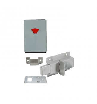 Square lock with color indicator