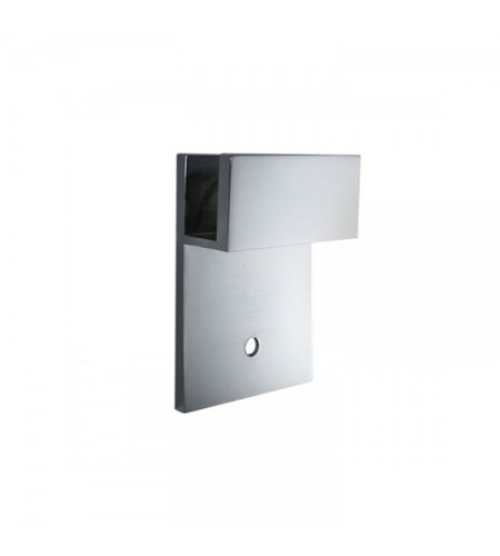 Wall mount glass clamp square