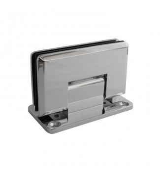 90° Wall Mount Full back plate hinge. Beveled edge.
