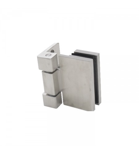 Glass to wall hinge
