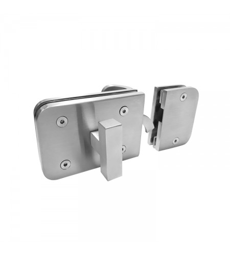 Rectangular patch door lock Mod. CMY02