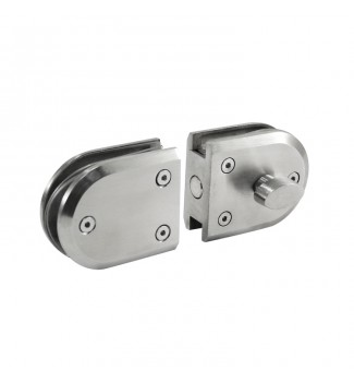 Round patch door lock Mod. JC032