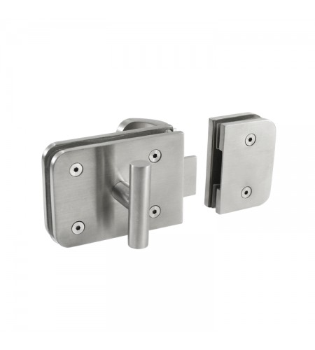 Rectangular patch door lock Mod. JK17502