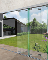 Bi-Folding Glass Wall System